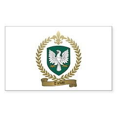 THEBAU Family Crest Rectangle Sticker