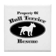 Property of Bull Terrier Resc Tile Coaster