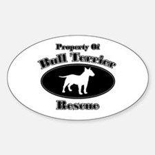 Property of Bull Terrier Resc Oval Decal