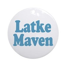 Latke Maven Ornament (Round)