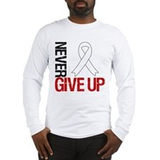 Lung Cancer Never Give Up Long Sleeve T-Shirt