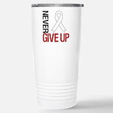 Lung Cancer Never Give Up Travel Mug