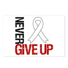 Lung Cancer Never Give Up Postcards (Package of 8)