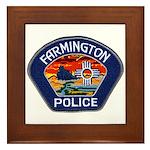 Farmington Police Framed Tile