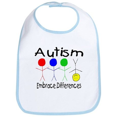 Autism, Embrace Differences Bib