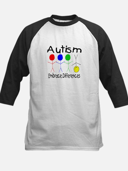 Autism, Embrace Differences Kids Baseball Jersey