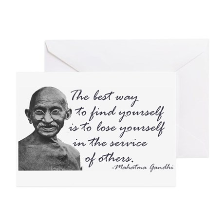 Gandhi Quote - Best way to fi Greeting Cards (Pack