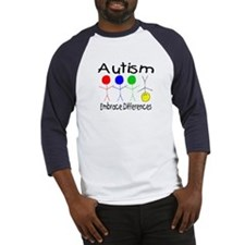 Autism, Embrace Differences Baseball Jersey