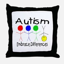 Autism, Embrace Differences Throw Pillow