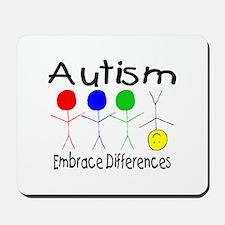 Autism, Embrace Differences Mousepad