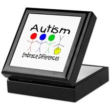 Autism, Embrace Differences Keepsake Box
