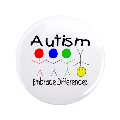 """Autism, Embrace Differences 3.5"""" Button (100 pack)"""