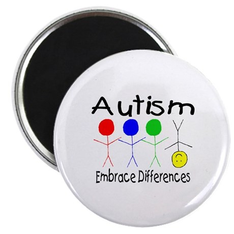 "Autism, Embrace Differences 2.25"" Magnet (100 pack"