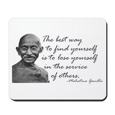 Gandhi Quote - Best way to fi Mousepad