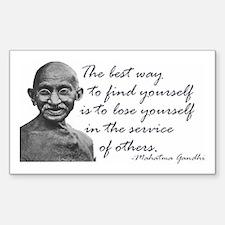 Gandhi Quote - Best way to fi Sticker (Rectangular