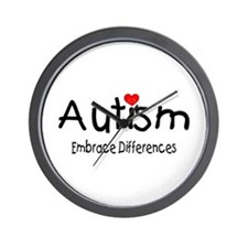 Autism, Embrace Differences Wall Clock