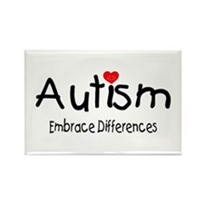 Autism, Embrace Differences Rectangle Magnet