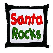 Santa Rocks Throw Pillow