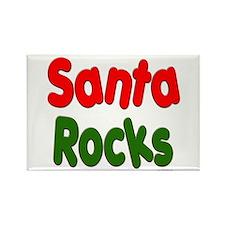 Santa Rocks Rectangle Magnet