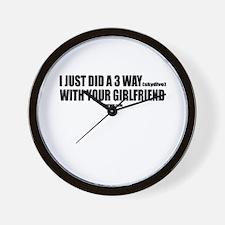 3 WAY SKYDIVE Wall Clock