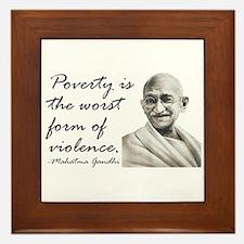 Gandhi Qute - Poverty is the Framed Tile