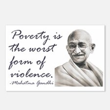 Gandhi Qute - Poverty is the Postcards (Package o