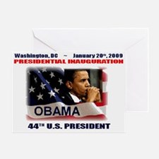 Cute Presidential inauguration 2009 Greeting Card