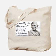 Gandhi Qute - Poverty is the Tote Bag