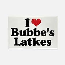 Bubbe's Latkes Rectangle Magnet
