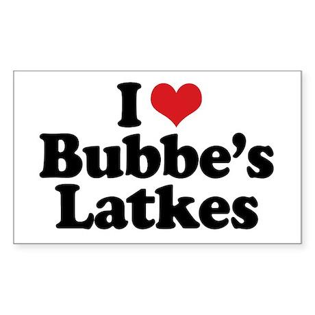 Bubbe's Latkes Rectangle Sticker