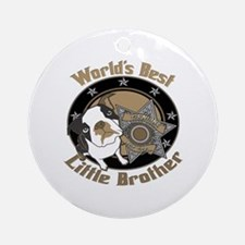 Top Dog Little Brother Ornament (Round)