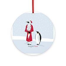 Penguin Noel Ornament (Round)