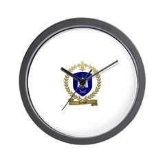 TEMPLE Family Crest Wall Clock
