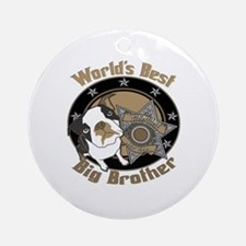 Top Dog Big Brother Ornament (Round)