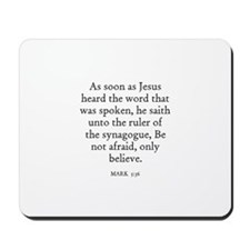 MARK  5:36 Mousepad