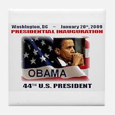 Cute Presidential inauguration 2009 Tile Coaster