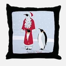 Penguin Noel Throw Pillow