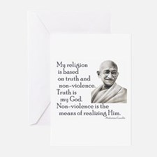 Gandhi quote - Truth is my Go Greeting Cards (Pack