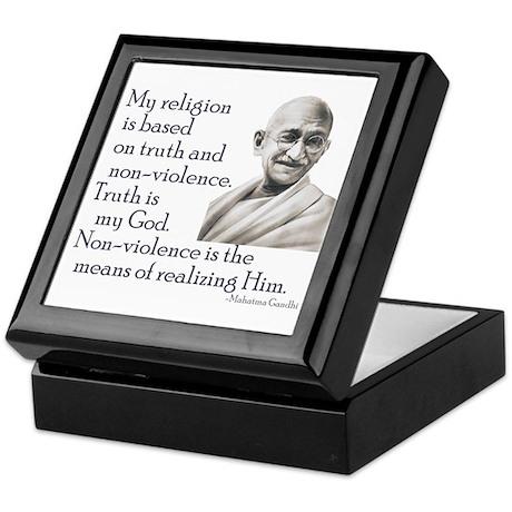 Gandhi quote - Truth is my Go Keepsake Box