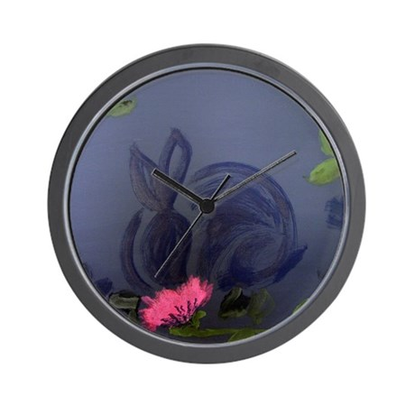supper in a midnight garden Wall Clock