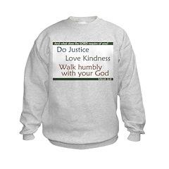 Micah 6:8 Sweatshirt