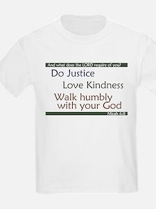 Micah 6:8 Kids T-Shirt