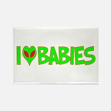 I Love-Alien Babies Rectangle Magnet