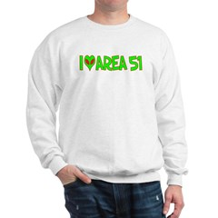 I Love-Alien Area 51 Sweatshirt