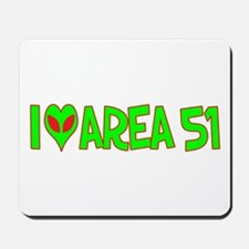 I Love-Alien Area 51 Mousepad