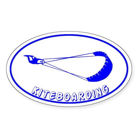 Kiteboarding Kitesurfing Oval Sticker