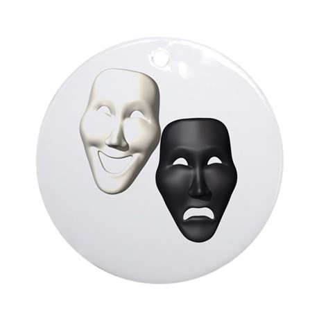 MASKS OF COMEDY & TRAGEDY Ornament (Round)
