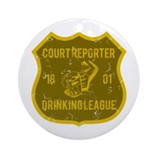 Court Reporter Drinking League Ornament (Round)