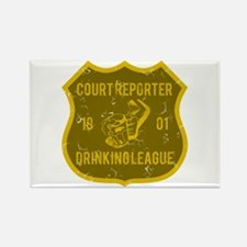Court Reporter Drinking League Rectangle Magnet