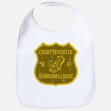 Court Reporter Drinking League Bib